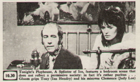 'Drama She Wrote' at BFI Southbank: 'Playhouse: Splinter of Ice' (Granada/ ITV 1972) + 'Then and Now: Over' (BBC 1973)
